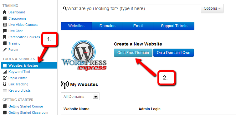 Free Website Get Started Today Itsvicky