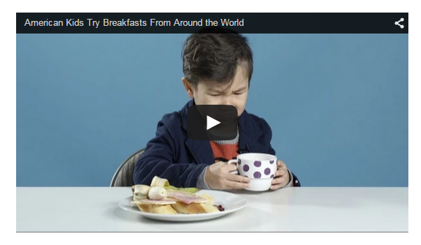 American Kids Eat Breakfast from Around The World – What Does It Have to Do With Online Marketing?