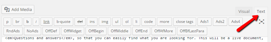 wordpress_text_mode