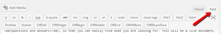 wordpress_text_mode