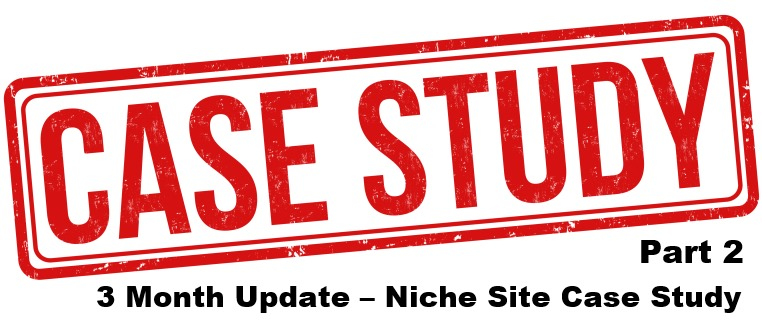 niche site case study 3 month update