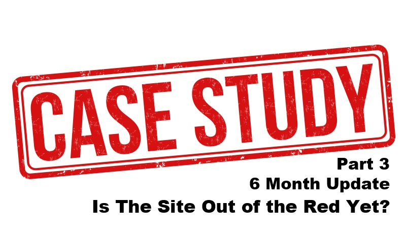 6 Month Update – Is The Site Out of the Red Yet? Niche Site Case Study Part 3