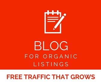 organic listing blogging