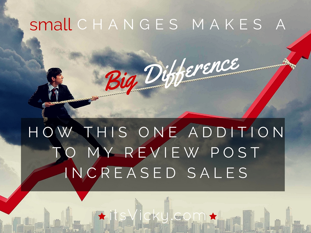 How This One Addition to My Review Post Increased Sales – Case Study