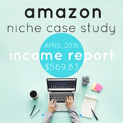 amazon niche case study income report april