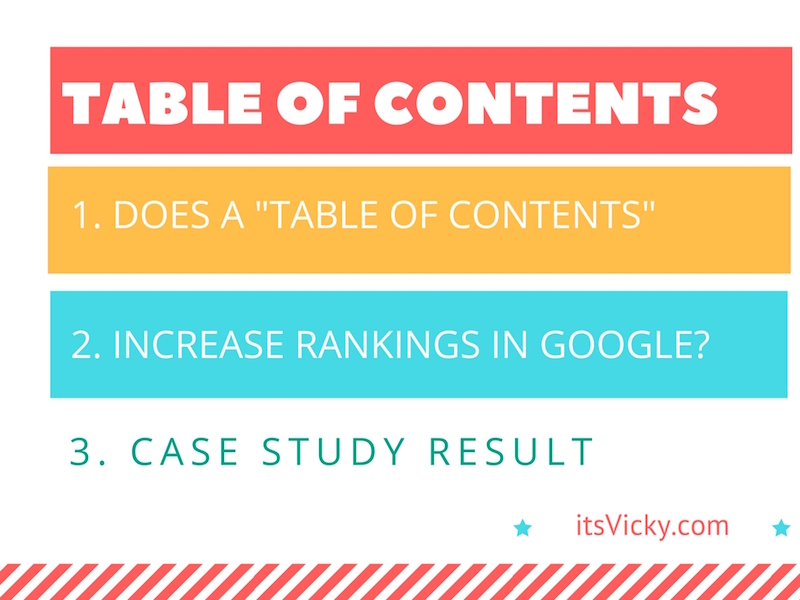 "Does a ""Table of Contents"" Increase Rankings in Google?"