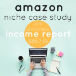 Amazon Niche Site Case Study, Income Report September