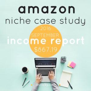 Amazon Niche Site Case Study, Income Report September