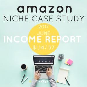Amazon Case Study Income Report for June 2017