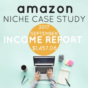 Case Study – Amazon Associate Income Report September 2017