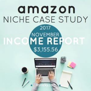 Case Study – Amazon Associate Income Report November 2017