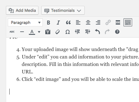 how to add a picture on wordpress
